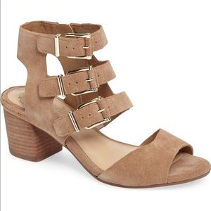 Vince Camuto Geriann suede sandle with buckles